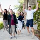 parents celebrate graduate