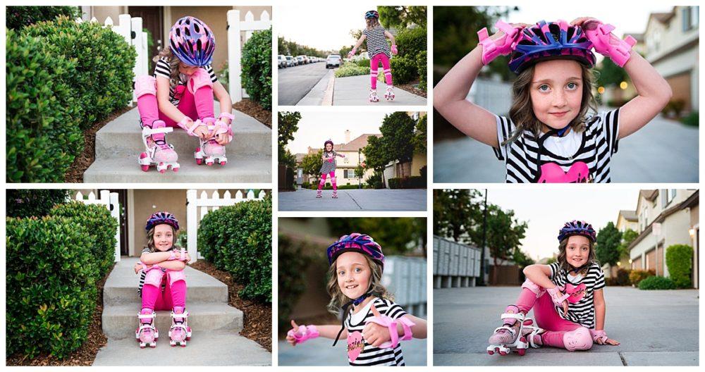 girl on rollerskates